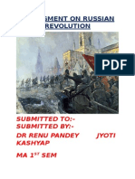 Assingment on Russian Revolution