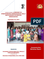Strengthening Comm. Skills & Planning on Routine Immunization Program in India