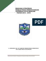 Rencana Strategis Disperindagkop Kota Banjar 2014-2018