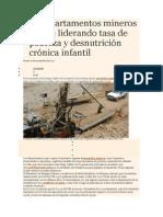 Los Departamentos Mineros Siguen Liderando Tasa de Pobreza y Desnutrición Crónica Infantil_1088