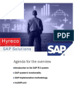 Sap Overview by Hyreco