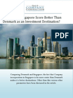 What Makes Singapore Score Better Than Denmark as an Investment Destination?