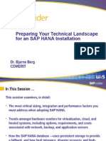 HANA Technical Landscape Preparation v4