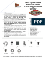 Toyota Tundra Bushwacker Fender Flares Installation Instructions