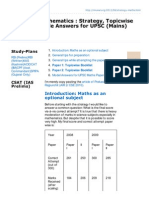 Mrunal.org-Strategy Mathematics Strategy Topicwise Booklist Sample Answers for UPSC Mains Exam