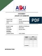 Assignment ETW 431