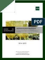 Plan de Trabajo Antropologia Politica II