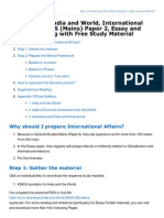 Mrunal.org-Studyplan India and World International Relations for GS Mains Paper 2 Essay and Interview Along With
