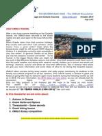 OMILO Newsletter from Greece - October 2015
