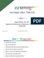 Pendahuluan Data Mining