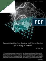 Integracion Productiva y Financiera en La Union Europea