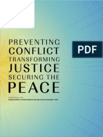 Preventing conflict, transforming justice securing the peace