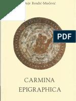 D. Rendić-Miočević - Carmina epigraphica