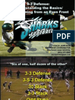 3-3-5 Stack Defensive Scheme from Coach John Rice