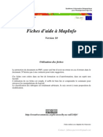 Fiches MapInfo 10