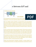 Diff Btwn MOSFET and BJT