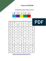 Bateria Estimulacion Cognitiva Identifica LAS LETRAS y Colorea Nivel Avanzado 6