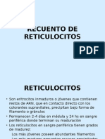Recuento de Reticulocitos Clase 8