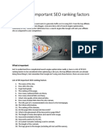 A List of 99 Important SEO Ranking Factors