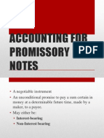 Promissory Note Accounting