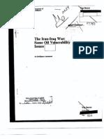 CIA Iran Iraq War Oil Vulnerability Issues I