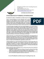 Fundamentals of Criminal Investigations