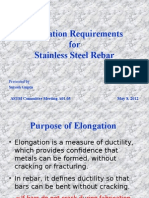 Elongation Requirements for Rebar