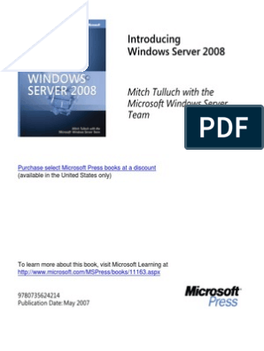Windows Server 2008 From MS Press | Remote Desktop Services