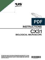 CX31 Instructions Manual