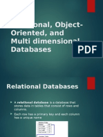 relational-object-oriented-and-multi-dimensional-databases