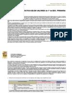Programación Ed en Valores Sociales y Cívicos PRIMERO CEIP PORZUNA
