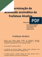 Determinação Da Actividade Enzimática Da Fosfatase Alcalina