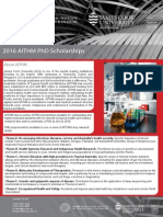 2016 AITHM PhD Scholarships