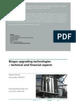 [Apresentação] Biogas Upgrading Technologies 2012