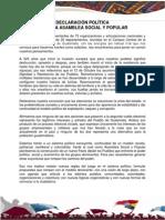 Declaración Política Tercera Asamblea Social y Popular