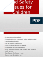 Food Guidelines and Safety Issues for Children