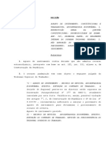 Decisão Stf Em Aposentadoria Não Extingue Compulsóriamente Contrato de Trabalho Texto_2691836