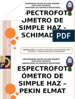 Espectrofotómetro de Simple Haz - Schimadzu
