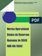 Norma Operacional Basica de Recursos Humanos Do SUAS NOB-RH SUAS