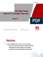 OWJ100101 WCDMA Radio Network Coverage Planning