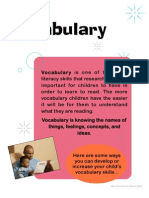 Vocabulary is One of the Early Literacy