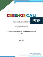 Programa de Gobierno Maurice Armitage