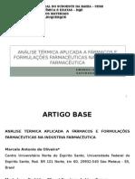 Análise Térmica Aplicada a Fármacos e Formulações Farmacêuticas