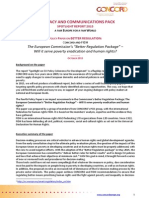 CONCORD and FIDH Policy Paper on Better Regulation