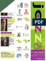 Programme Jazz à La Cité 2015