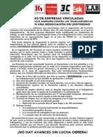 9-Octubre-2015 Comunicado Conjunto Negociación Convenio -2015