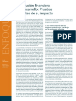 FocusNote Financial Inclusion and Deelopment April 2014 Spanish