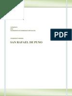 Yacimiento de Mina San Rafael de Puno