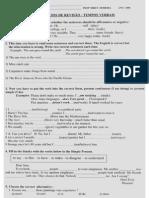 Ingles Intermediario -Exercicios de Revisão - Tempos Verbais
