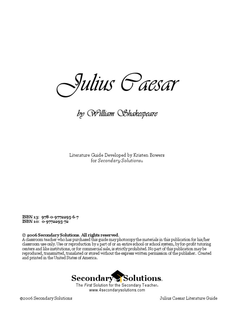 Caesar Unit Plan with Good Resources | Julius Caesar | William Shakespeare